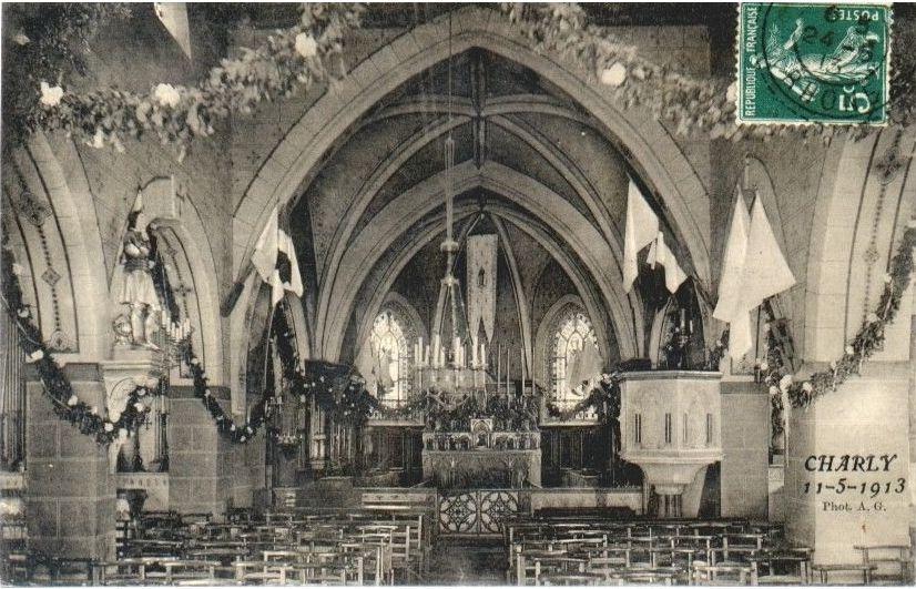 L'église décorée pour les fêtes