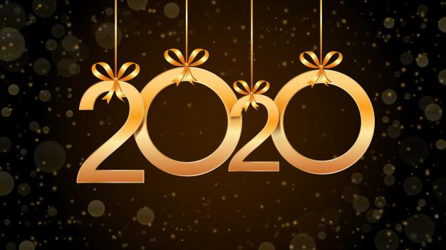 Resume bonne annee 2020 numeros suspendus or effet paillettes bokeh 73174 167